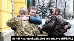Зустріч побратимів біля Володимирського собору в Києві, 20 січня 2018 року