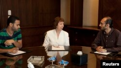 Эштон в Каире во время переговоров с египетскими политиками. 29 июля 2013 г.