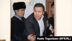 "Accused of ""inciting hatred"" Serikzhan Mambetalin. Almaty, 20Jan2016"