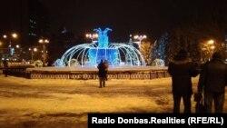Новогодний центр Донецка, январь 2019 года
