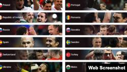 """Euro-2016"" gatnaşýan komandalar"