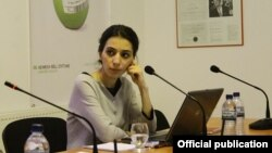Сотрудница НПО «Центр просвещения и мониторинга прав человека» Тамта Микеладзе