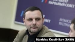 Мануель Оксенрайтер на прес-конференції в Луганську, 3 листопада, 2014