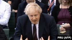 British Foreign Secretary Boris Johnson in Parliament on March 21.