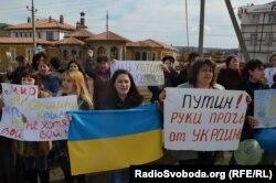 Акція проти російського вторгнення, Сімферополь, 6 березня 2014 року