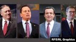 Michael Pompeo, Richard Grenell, Albin Kurti, Aleksandar Vučić