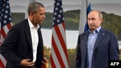 U.K. -- US President Barack Obama (L) holds a bilateral meeting with Russian President Vladimir Putin during the G8 summit at the Lough Erne resort near Enniskillen in Northern Ireland, 17Jun2013