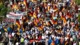 Demonstrație a partidului anti-imigrație AfD la Berlin, mai 2018