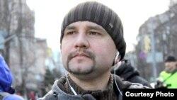 Уладзімер Вятровіч на Эўрамайдане 18 лютага 2014 году