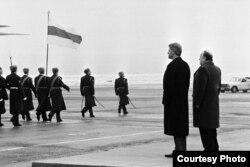 Біл Клінтан і Станіслаў Шушкевіч у Менску, 15 студзеня 1994 году