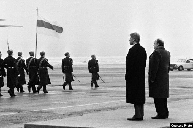 Билл Клинтон и Станислав Шушкевич в Минске, 15 января 1994 года