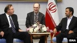 საქართველოს საგარეო საქმეთა მინისტრის გრიგოლ ვაშაძისა და ირანის პრეზიდენტ მაჰმუდ აჰმადინეჟადის შეხვედრა თეირანში