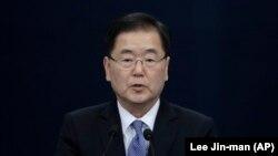Udhëheqësi i delegacionit jugkorean në Korenë Veriore, Chung Eui-yong, foto nga arkivi