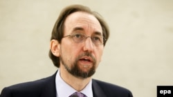 UN High Commissioner for Human Rights Zeid Ra'ad Al Hussein (file photo)