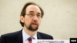 UN High Commissioner for Human Rights Zeid Ra'ad al-Hussein (file photo)