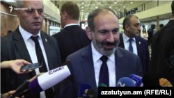 Prime Minister Nikol Pashinian in Yerevan on October 22, 2018.