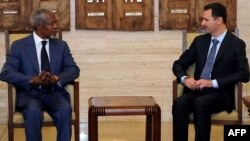 Встреча Аннана и Асада в Дамаске
