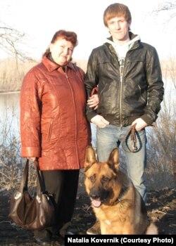 Наталья Коверник с сыном Виталием