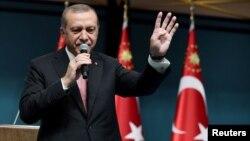 Президент Турции Реджеп Эрдоган. 21 июля 2016 года.