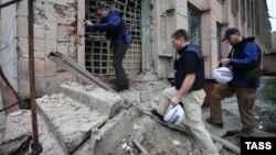 Спостерігачі ОБСЄ в Донецьку, архівне фото