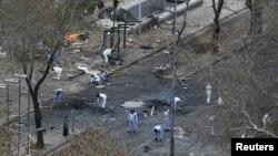 На місці вибуху в Анкарі, 14 березня 2016 року
