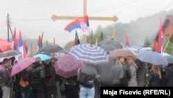 Treći ujedno i najmasnovniji protest protiv donošenja Nacrta zakona o Trepči