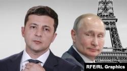 Владимир Зеленский и Владимир Путин. Коллаж
