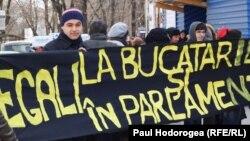 Miting împotriva discriminării, Chişinău, 8 martie 2011