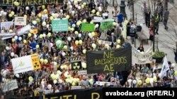 Марш пратэсту супраць АЭС у Вільні