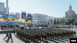 Ukrajinska vojska na maršu na Dan nezavisnosti