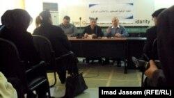 جانب من ندوة النقابة الوطنية للصحفيين والإعلاميين العراقية