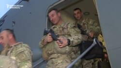 Returning Georgian Troops Honored For Saving U.S. Lives In Afghanistan