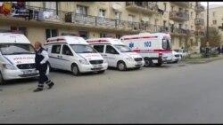 Sabunçu Rayon Polis idarəsi önündə polis kardonu