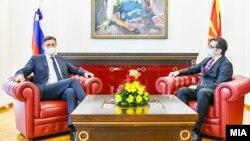 Претседателите на Словенија и Северна Македонија, Борут Пахор и Стево Пендаровски во Скопје, 25 септември 2020