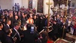 Папу Римского приветствуют в Эчмиадзине