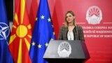 Прес-конференцијата на министерката за финансии Нина Ангеловска.