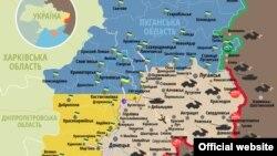 Карта зоны конфликта. Иллюстративное фото