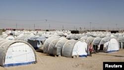 مخيم للاجئين السوريين في القائم