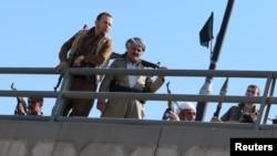 پیشمرگههای کرد عراق در این عکس از اکتبر سال جاری در شمال کرکوک