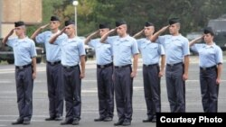 Kosovo Security Forces (KSF), eight new cadets giving oath, 13Sept2013