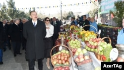 Azerbaijan -- President Ilham Aliyev takes part in celebrations of Nowruz holiday, Baku, 19Mar2016