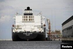 Первая доставка американского природного газа в газовый терминал в польском порту Свиноуйсьце в июне 2017 года