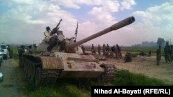 قوات البيشمركه في قرى قضاء داقوق بجنوب كركوك