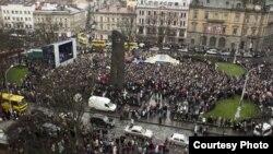 Євромайдан у Львові, 24 листопада 2013 року (фото Мирослава Пархомика)
