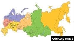 Мапа Російської Федерації