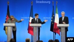 Ангела Меркель, Николя Саркози и Марио Монти
