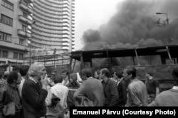 Piața Universității, București, 13 iunie 1990