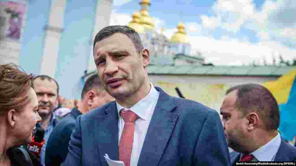 Київський міський голова Віталій Кличко спілкується з людьми