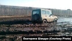 Ресей жолдарының бірінен көрнекі сурет.