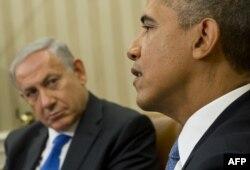 Барак Обама (п) і Біньямін Нетаньягу (л) на зустрічі в Білому домі, 30 вересня 2013 року